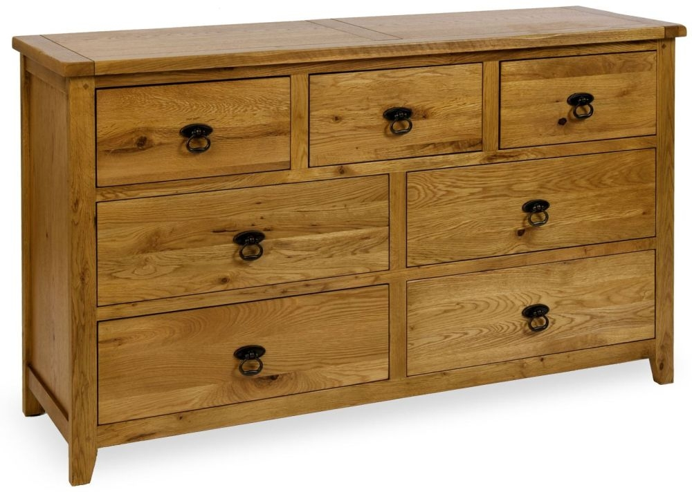 Verona Rustic Oak Chest of Drawer - 7 Drawer