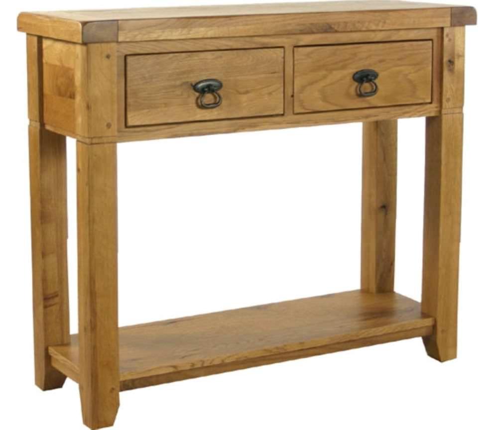 Verona Rustic Oak Console Table