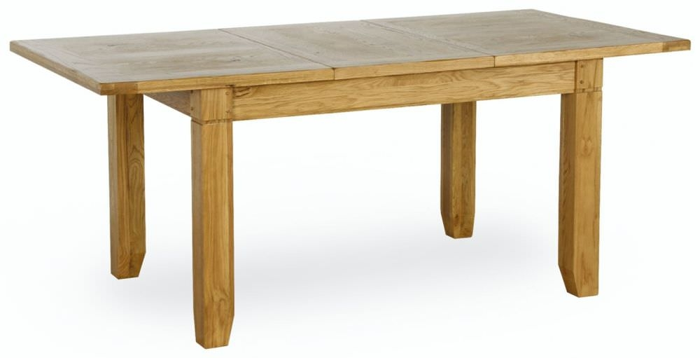 Verona Rustic Oak Dining Table - Small Extending