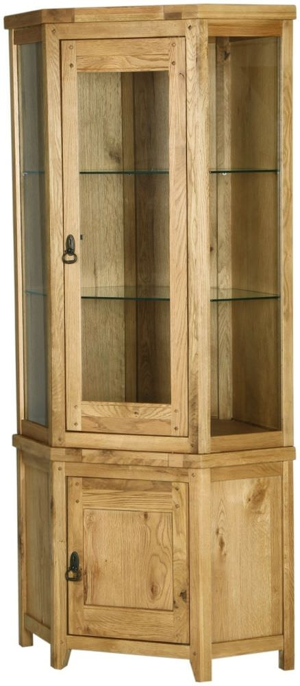 Verona Rustic Oak Display Unit - Corner