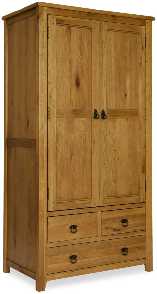 Verona Rustic Oak Gents Wardrobe