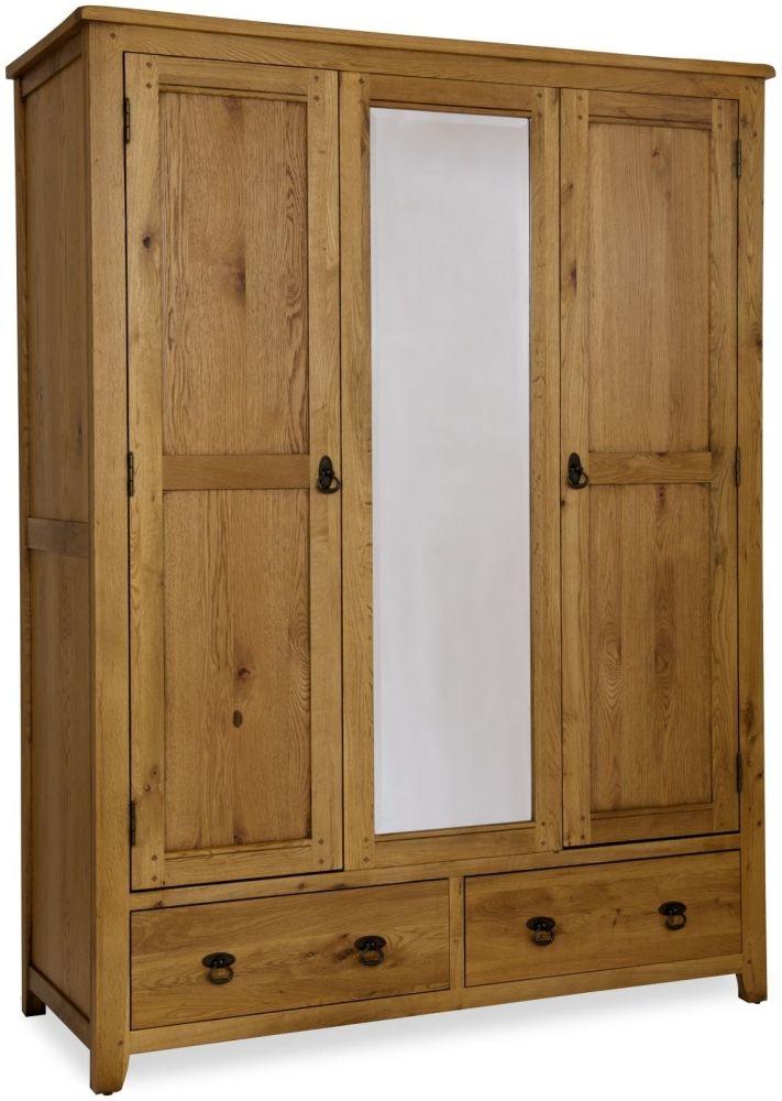 Verona Rustic Oak Triple Wardrobe