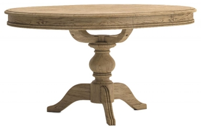 Versailles Oak 110cm-145cm Single Pedestal Extending Dining Table