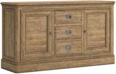 Versailles Oak 2 Door 2 Drawer Sideboard