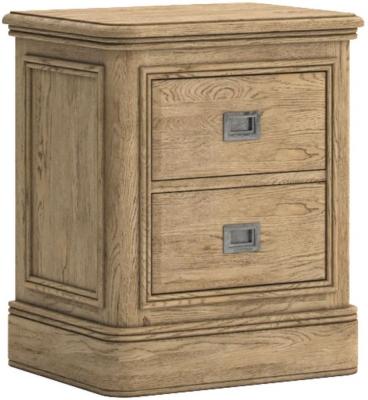 Versailles Oak 2 Drawer Bedside Cabinet