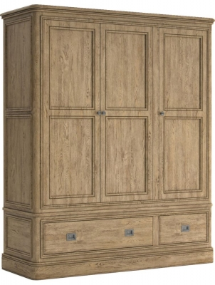 Versailles Oak 3 Door Triple Wardrobe