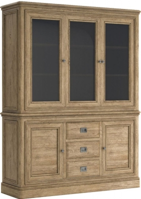 Versailles Oak Large Display Cabinet