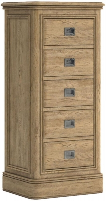 Versailles Oak 5 Drawer Tall Chest