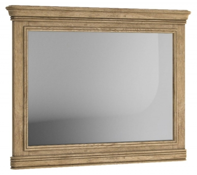 Versailles Oak Rectangular Wall Mirror - 120cm x 90cm