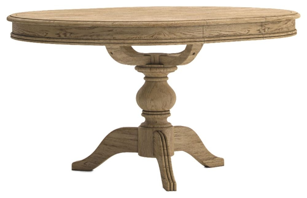 Versailles Round Extending Dining Table - Oak