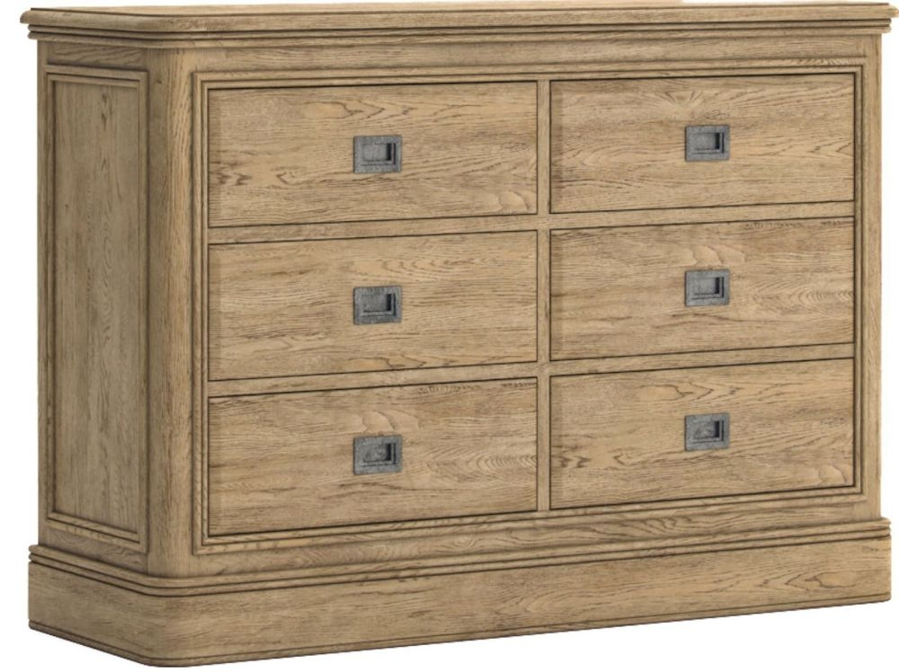 Versailles Oak 3+3 Drawer Chest