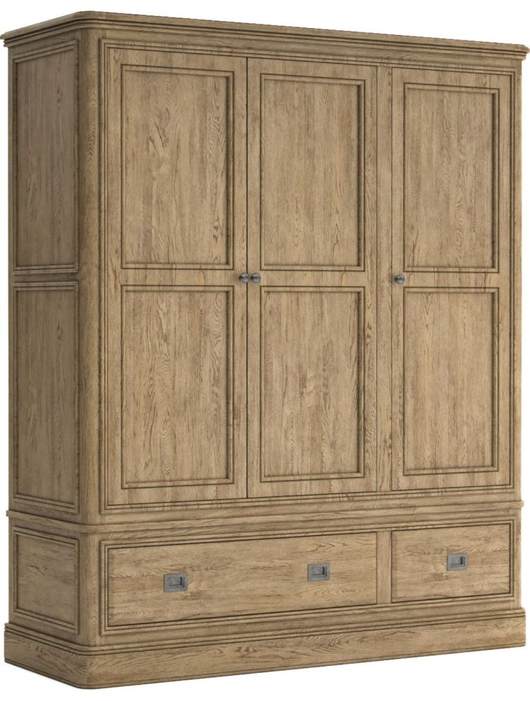 Versailles Oak 3 Door Triple Combi Wardrobe