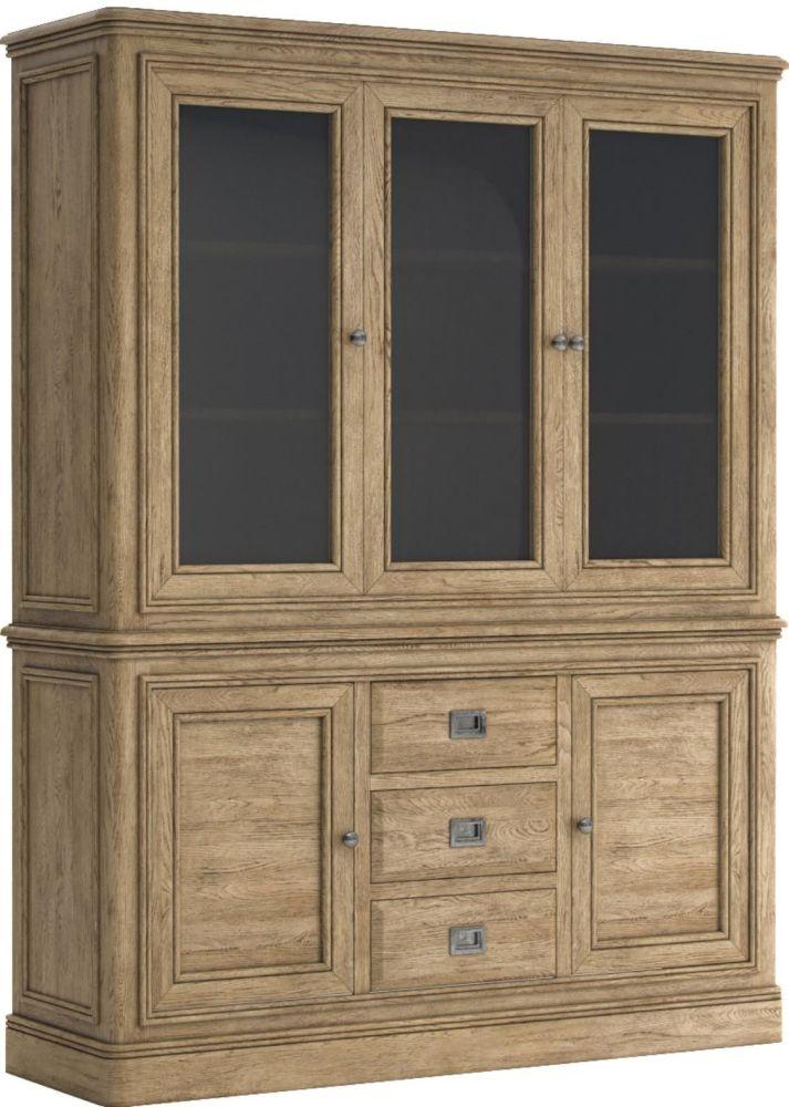 Versailles Oak Large Kitchen Dresser