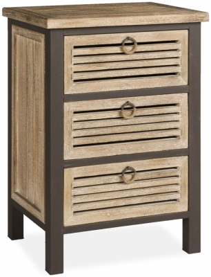 Viga Oak Mini Chest of Drawer - 3 Drawer