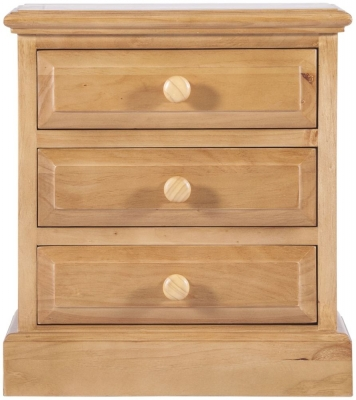 Welland Pine Bedside Cabinet - 3 Drawer