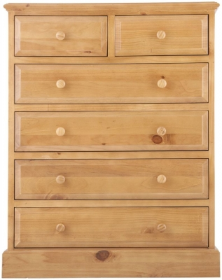 Welland Pine Chest of Drawer - 2+4 Drawer