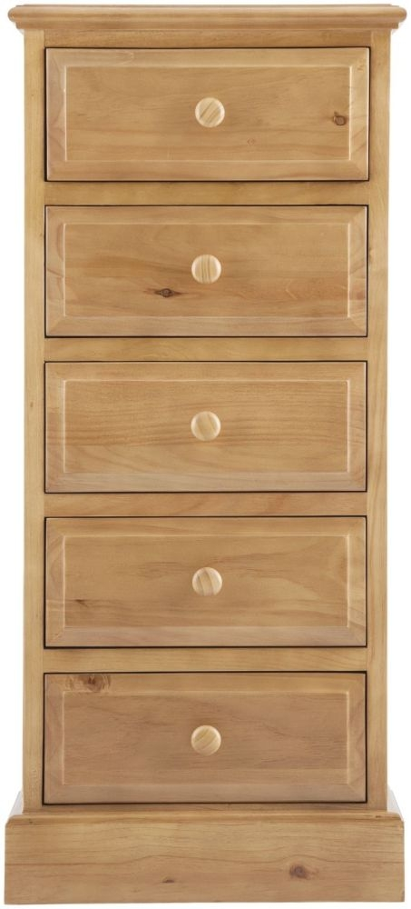 Welland Pine Wellington Chest of Drawer - 5 Drawer