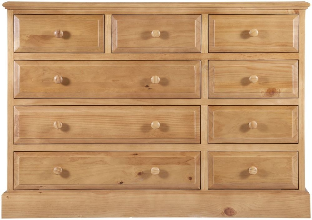 Welland Pine 9 Drawer Large Chest