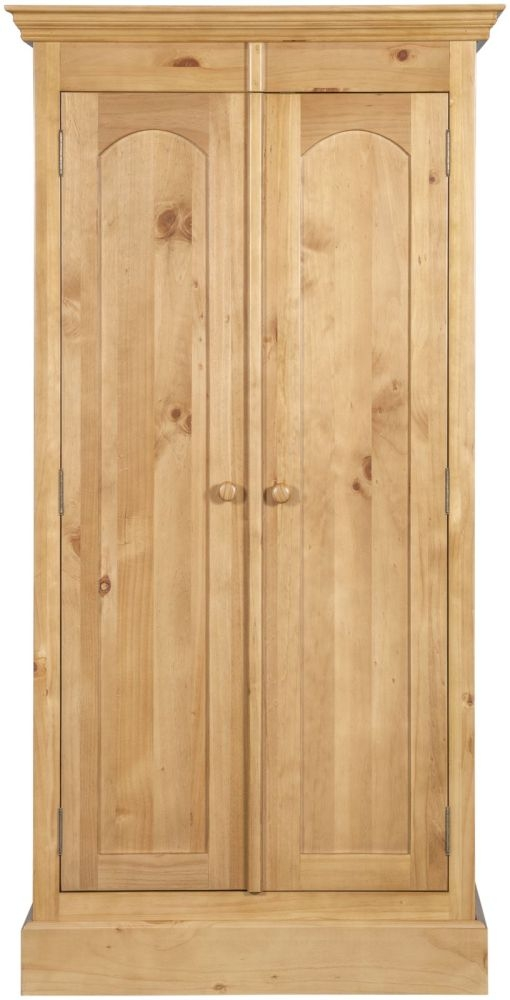 Welland Pine 2 Door Double Wardrobe
