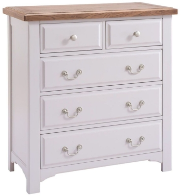 Westbury Grey Painted Chest of Drawer - 2 Over 3 Drawer