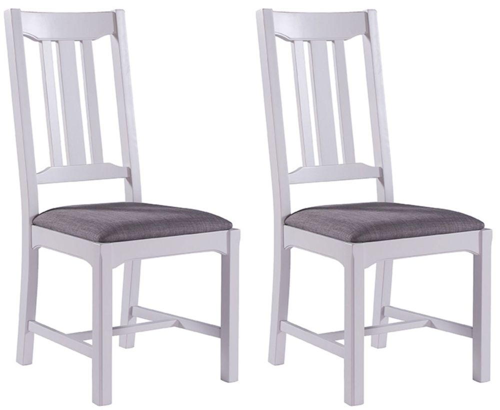 Westbury Grey Painted Dining Chair (Pair)
