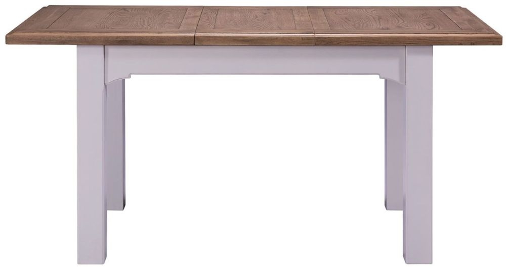 Westbury Grey Painted Dining Table - Extending