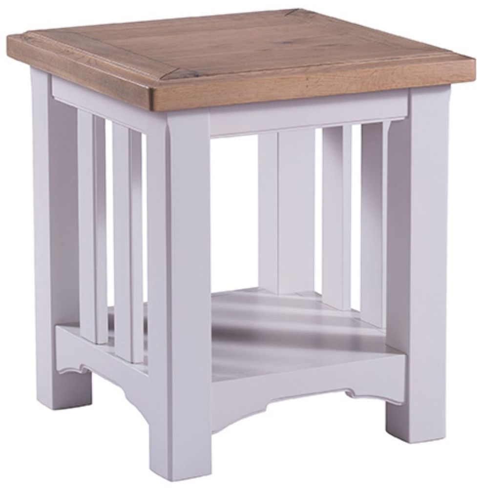 Westbury Grey Painted Lamp Table