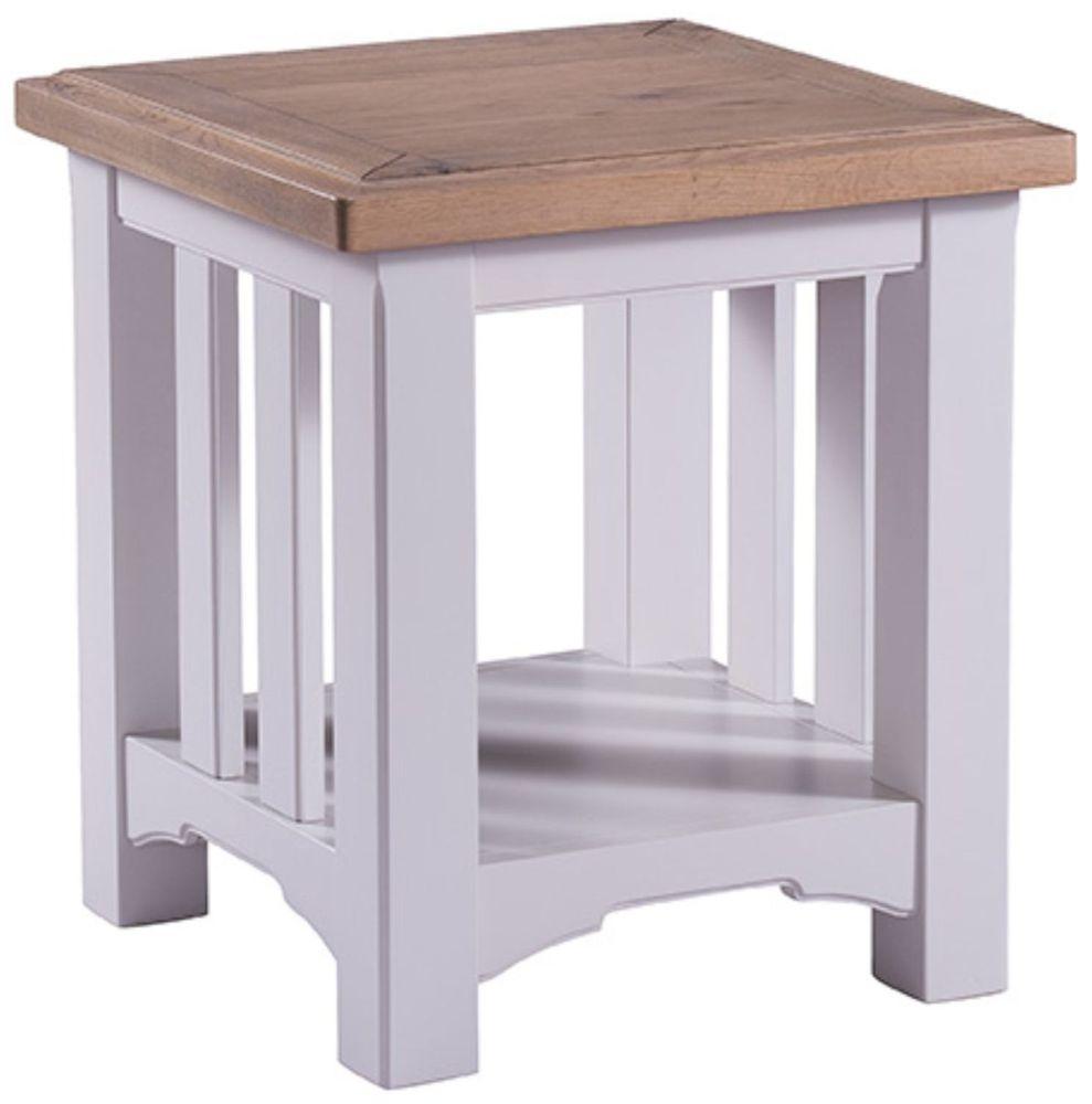 Westbury Grey Painted Lamp Table