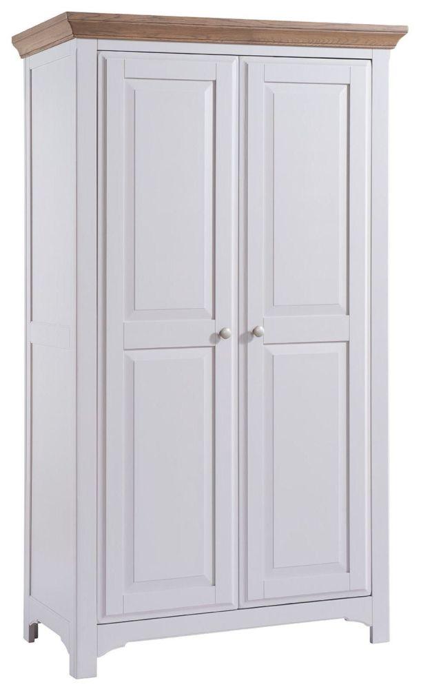Westbury Grey Painted Wardrobe - 2 Door