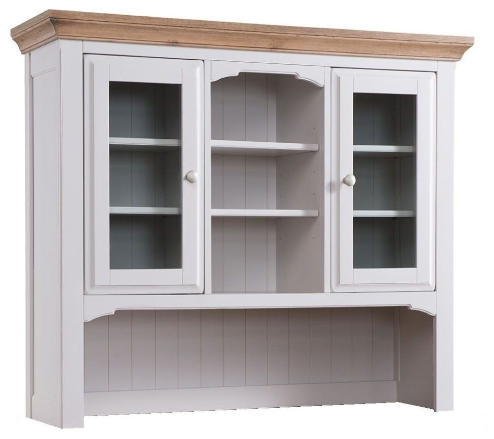 Westbury Grey Painted Dresser Top - Open