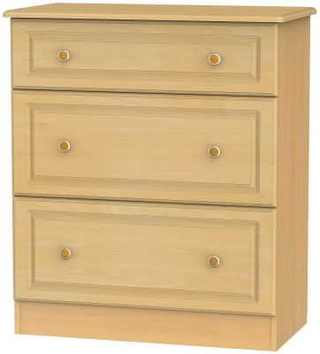 Clearance - Pembroke Beech 3 Drawer Deep Chest - New - A-110