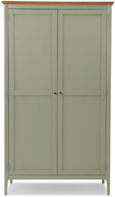 Clearance - Ancona Sage Green Painted 2 Door Wardrobe - New - FS582