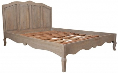 Clearance - Calais Grey Washed 5ft King Size French Style Bed - New - FS808