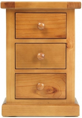 Clearance - Churchill Pine Large Bedside Cabinet - New - FS623