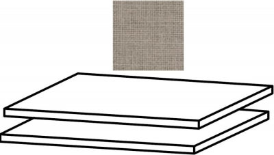 Clearance - Rauch Samos Set of 2 Shelves in Texline Linen Look in Natural Hues - New - CFS127896
