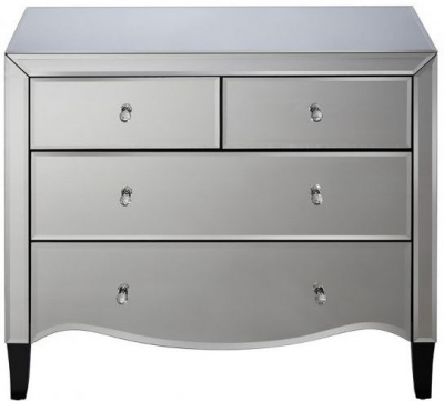 Clearance - Birlea Palermo Mirrored 2+2 Drawer Chest - New - E-284