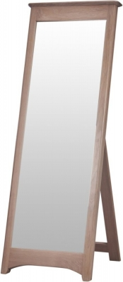 Clearance - Toulouse Oak Rectangular Cheval Mirror - 147cm x 53cm - New - E-305