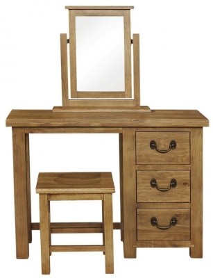 Clearance - Regatta Rustic Pine 3 Drawer Dressing Table - New - E-108