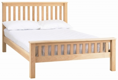 Clearance - Corndell Nimbus Satin Oak Strata 3ft Single Bed - New - FS1116