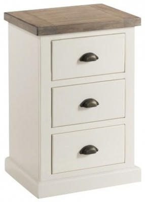 Clearance - Santorini Stone Painted Compact Nightstand - New - FS1169