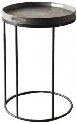 Clearance - Notre Monde Small Round Tray Table - New - E-399