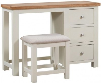 Clearance - Dorset Ivory Painted Dressing Table and Stool - New - FSS8823