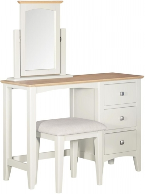 Clearance - Lowell Oak and White Painted Dressing Table - New - FSS8817