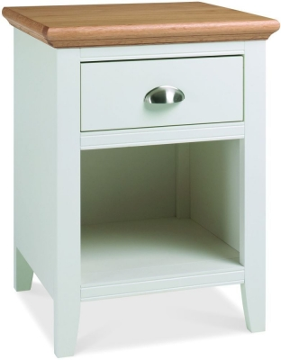 Clearance Bentley Designs Hampstead Two Tone 1 Drawer Bedside Cabinet - 2238