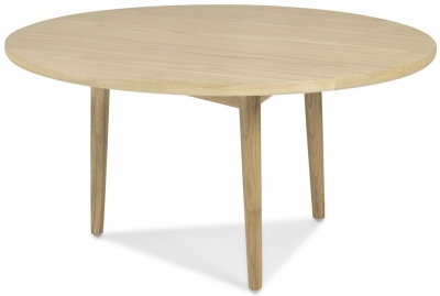Clearance Skean Solid Oak Circular Coffee Table - 2251