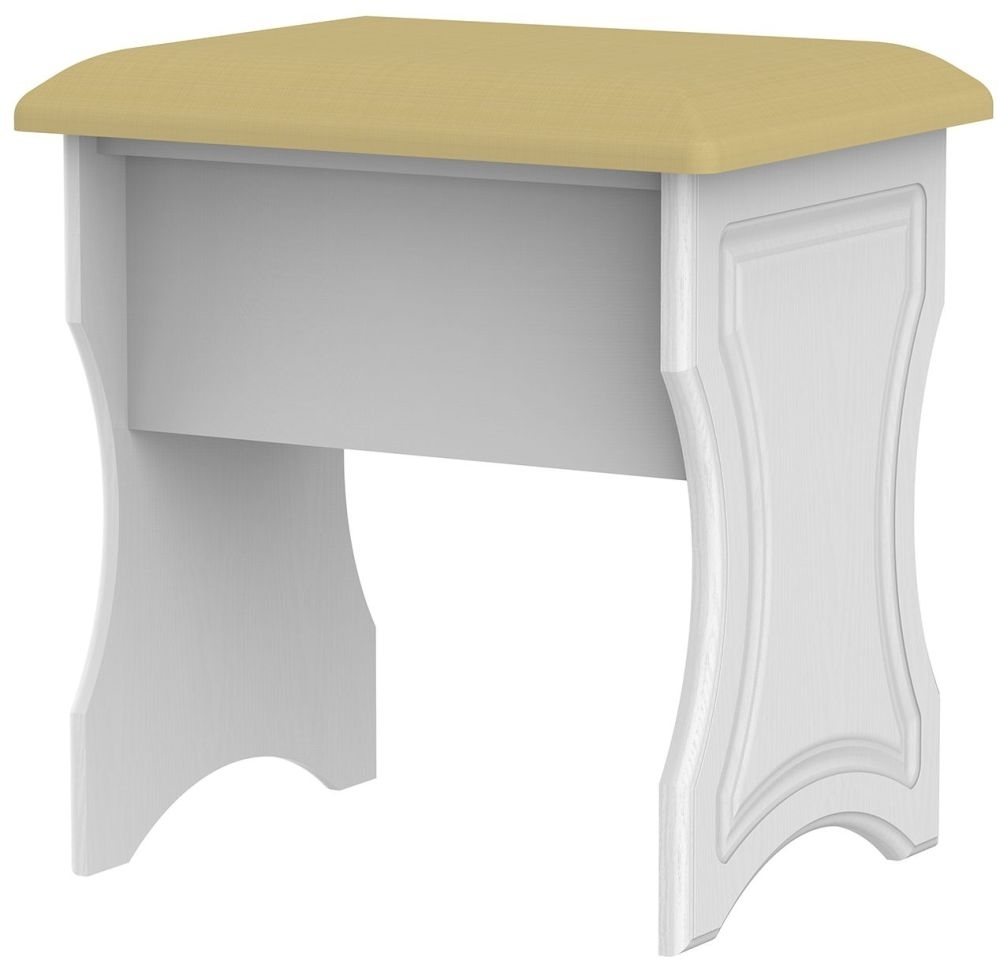 Clearance Half Price - Pembroke White Stool - New - D099