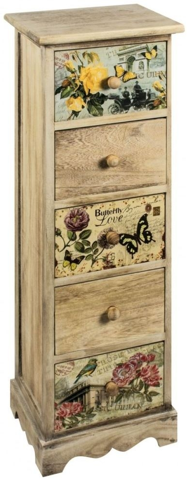 Clearance Half Price - Summer Loving 5 Height Drawer Chest - New - D007