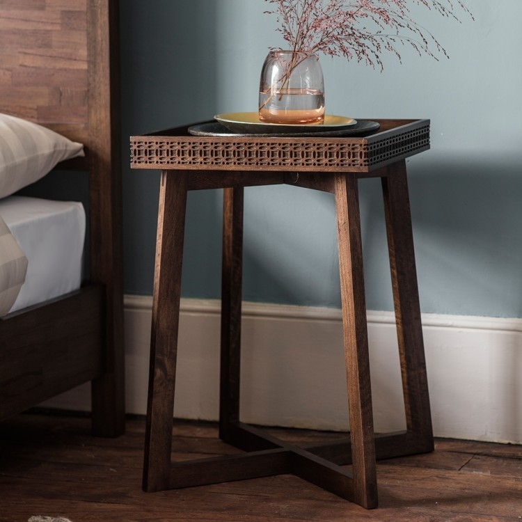 Clearance - Gallery Direct Boho Retreat Bedside Table - New - FS0039