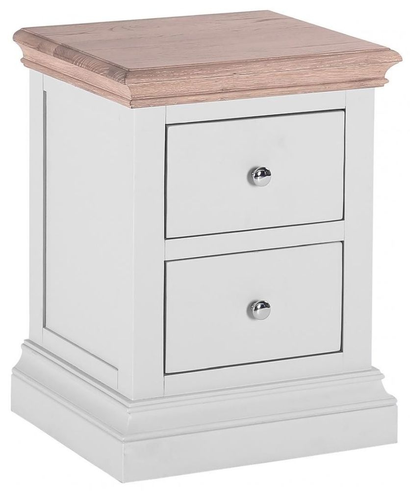Clearance Half Price - Rosa Painted 2 Drawer Bedside Cabinet - New - 404