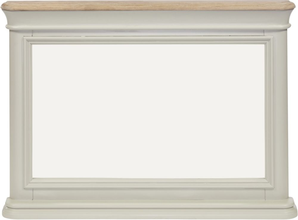 Clearance Half Price - Palmdale Rectangular Dressing Mirror - Oak and Grey - New - 1287